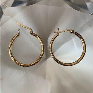 Gold plated sterling silver hoop earrings